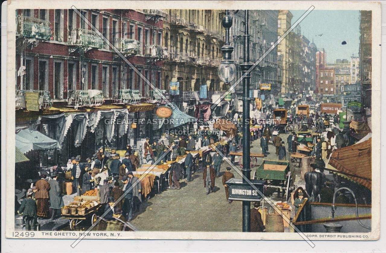 "Rivington Street, ""The Ghetto"", NYC"