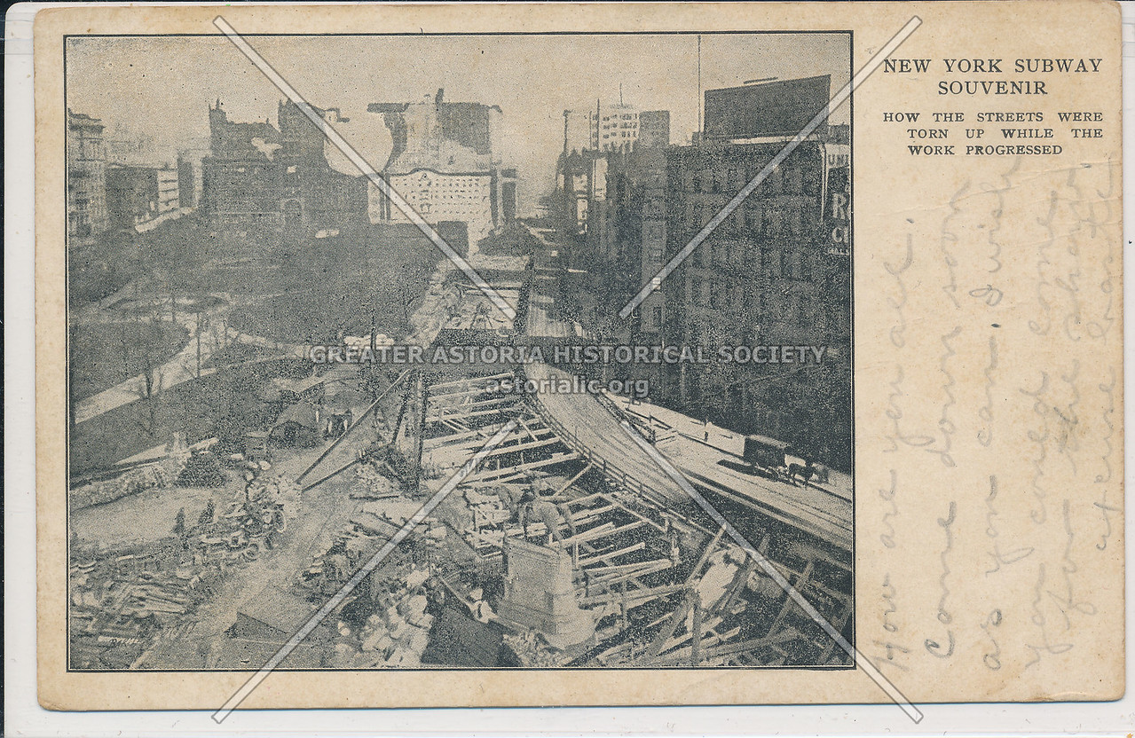 Union Square, Subway Construction, NYC