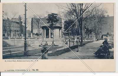 St Johns Park, Hudson & Leroy Sts, NYC