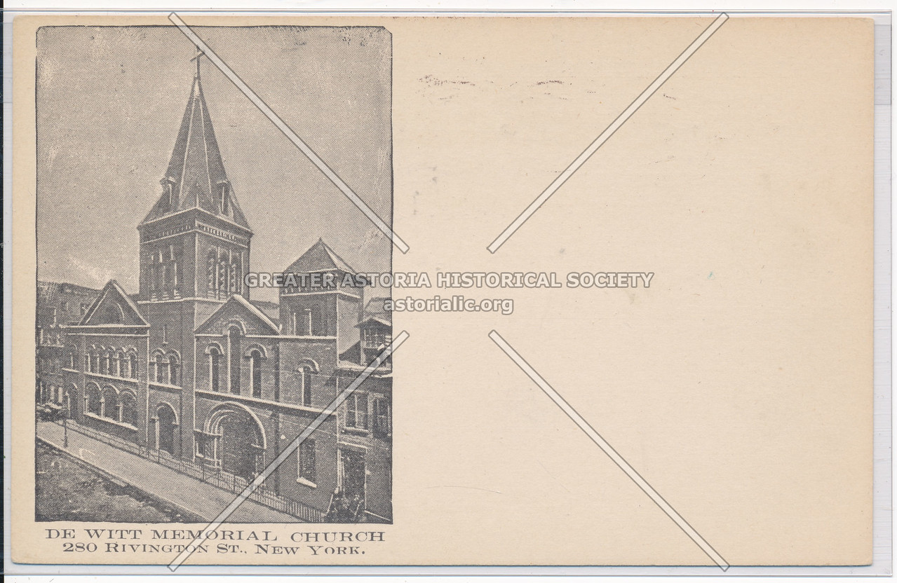 De Witt Memorial Church, 280 Rivington St, NYC