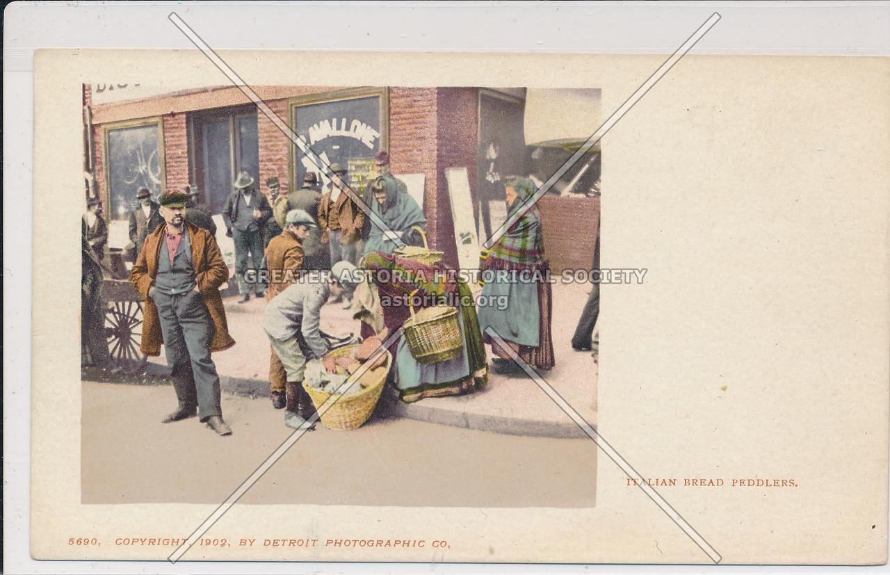 Italian Bread Peddlers, NYC