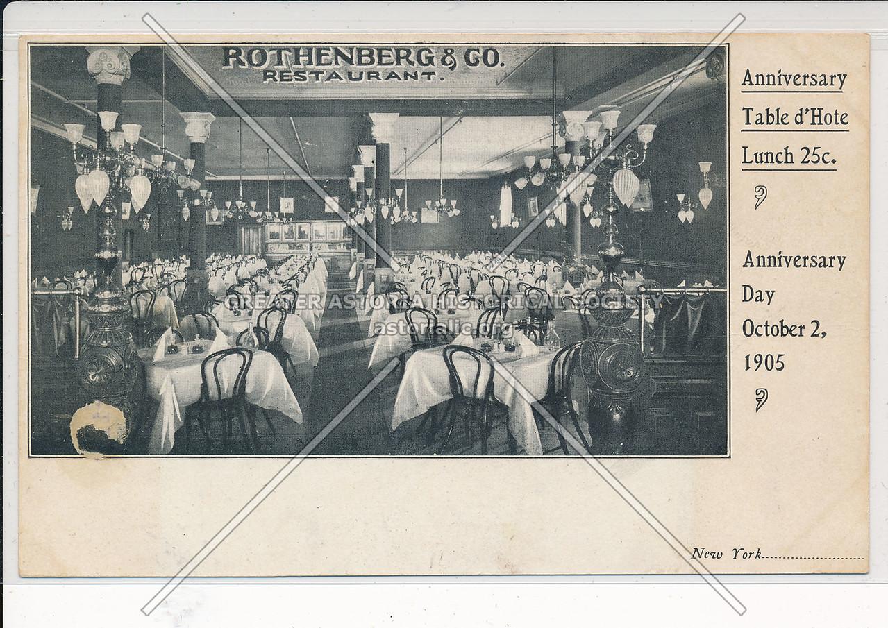 Rotherberg Restaurant, Mercer St, NYC (1905)