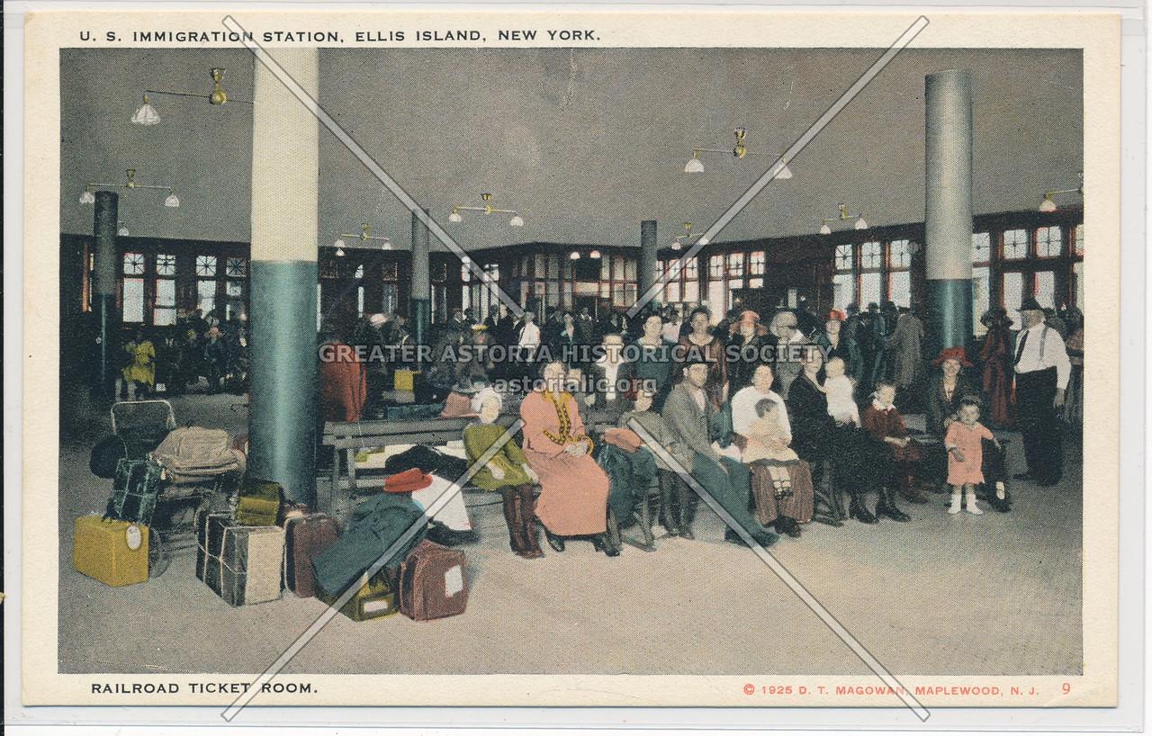 Ellis Island Rairoad Ticket Room