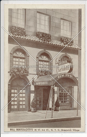 Bertolotti Restaurant, 85 W 3 St, NYC