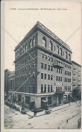 University Settlement, 184 Eldridge St, NYC