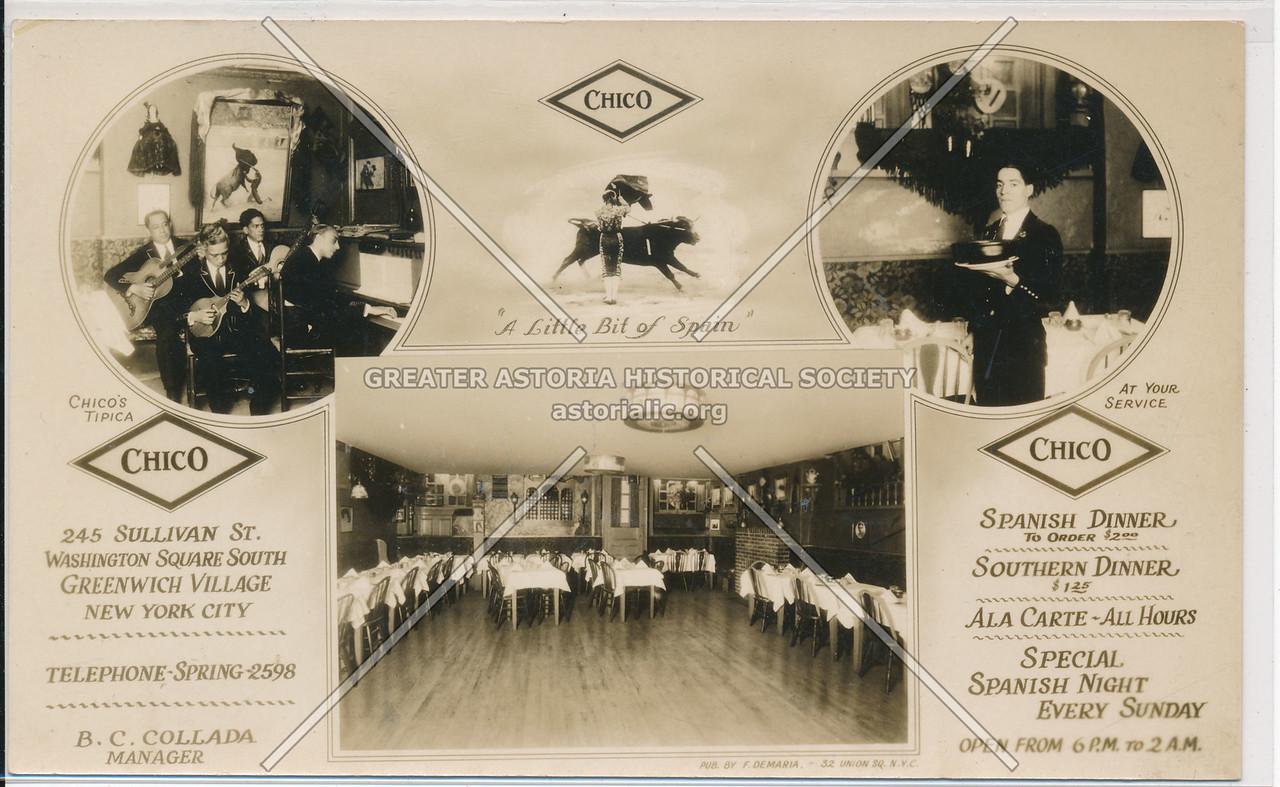 El Chico Restaurant, 245 Sullivan St, NYC