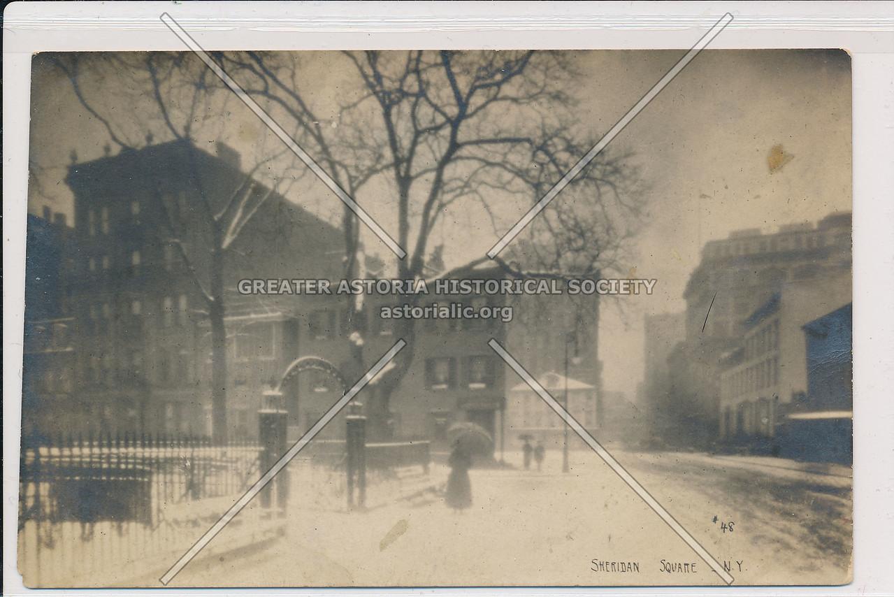 Sheridan Sq, Greenwich Village - Jessie Tarbox Beals