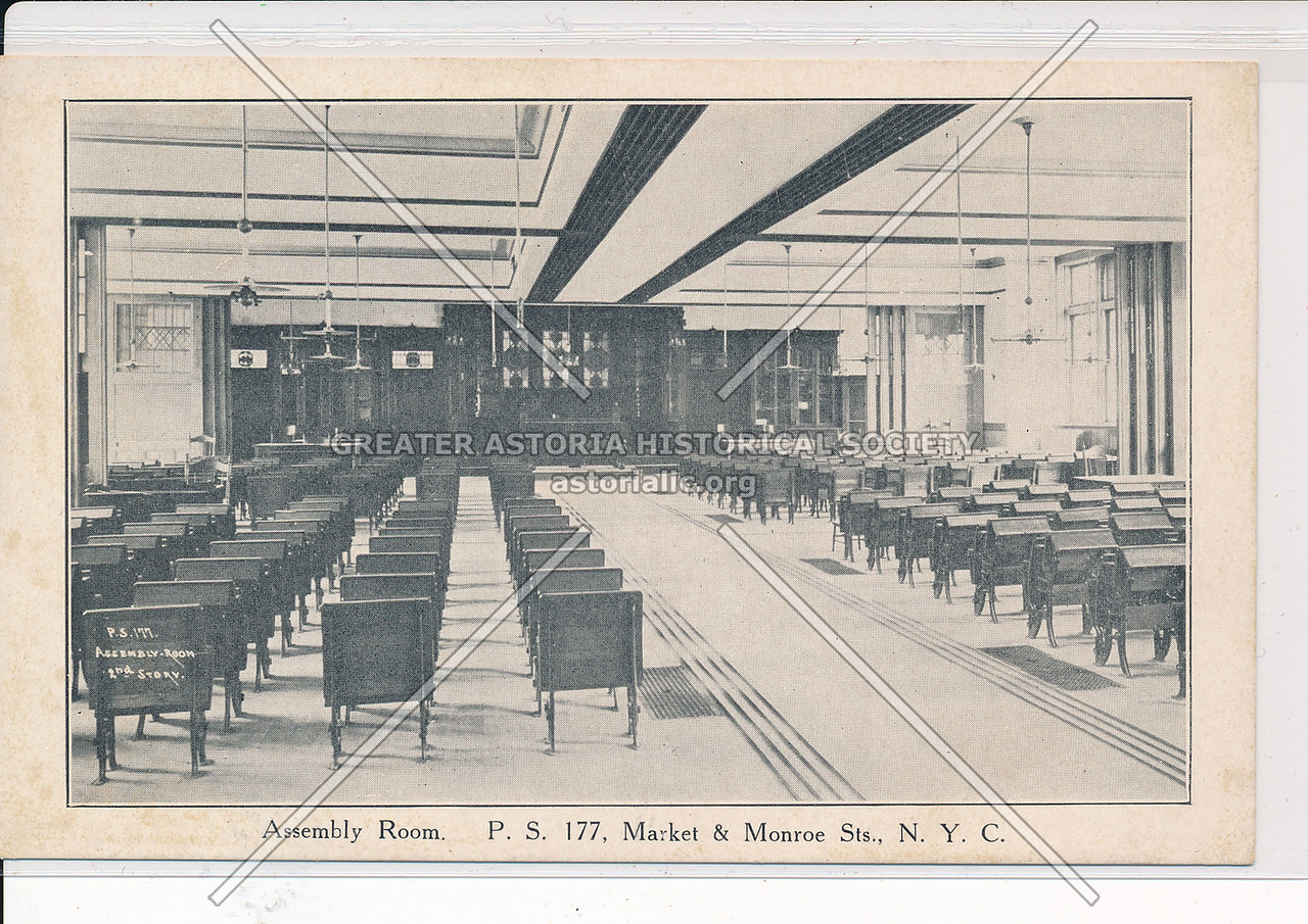 Assembly Room, PS 177, Monroe & Market Sts, NYC