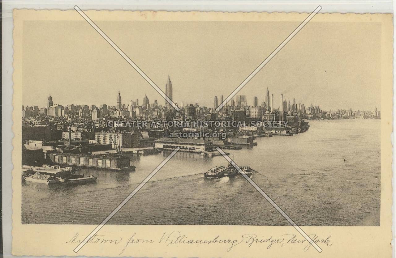 Midtown from Williamsburg Bridge, NYC