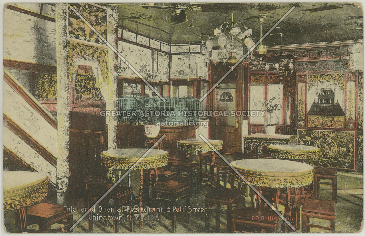 Oriental Restaurant, 3 Pell St, NYC