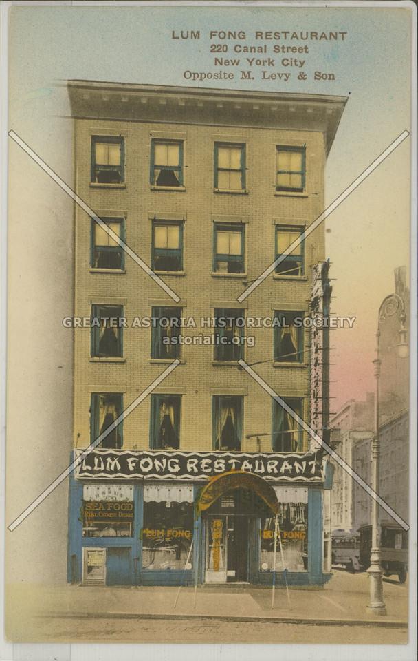 Lum Fong Restaurant, 220 Canal Street, NYC