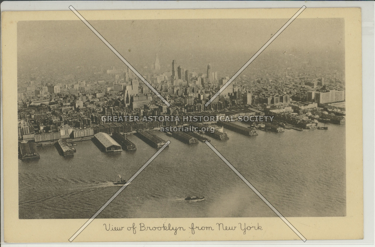 View of Brooklyn from lower Manhattan