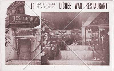 Lichee Wan Restaurant, 11 Mott St, NYC