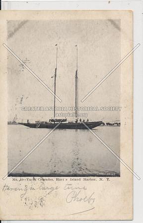 Yacht Crusader, Harts Island Harbor, NY