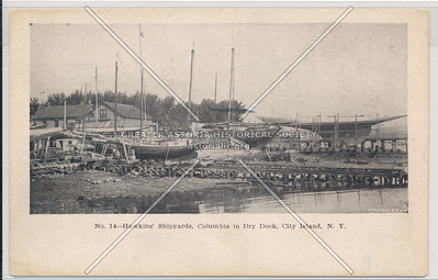 Hawkins Shipyards, Columbia in Dry Dock City Island, NY