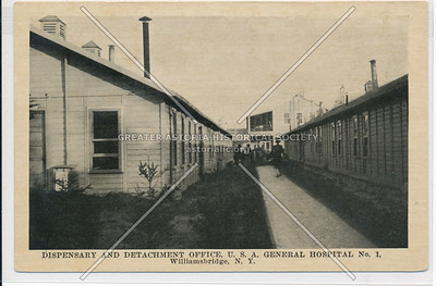 Dispensary and Detachment Office, U.S.A. General Hospital No.1, Williamsbridge, Bx.