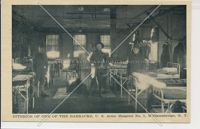 Interior of One of the Barracks, U.S. Army Hospital No. 1, Williamsbridge, Bx.