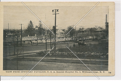 View From Officers' Pavilion, U.S. Army Hospital No. 1, Williamsbridge, Bx.
