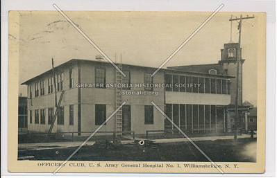 Officers' Club, U.S. Army Hospital No. 1, Williamsbridge, Bx.