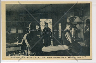 Interior of Canteen, U.S. Army Hospital No. 1, Williamsbridge, Bx.