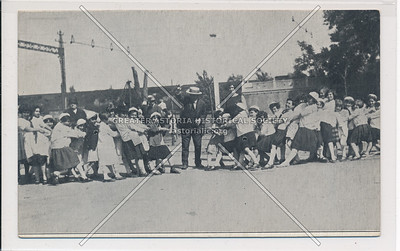 Starlight Amusement Park, E. 177th St., Bronx, Tug of War with the Manager as Judge.