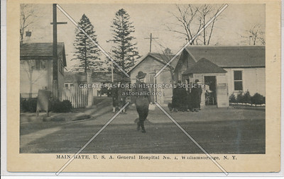 Main Gate, U.S.A. General Hospital No. 1, Williamsbridge, Bx.