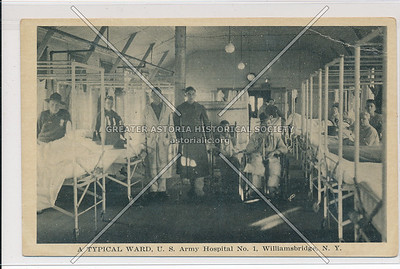 A Typical Ward, U.S. Army Hospital No. 1, Williamsbridge, Bx.