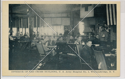 Interior of Red Cross Building, U.S. Army Hospital No. 1, Williamsbridge, Bx.