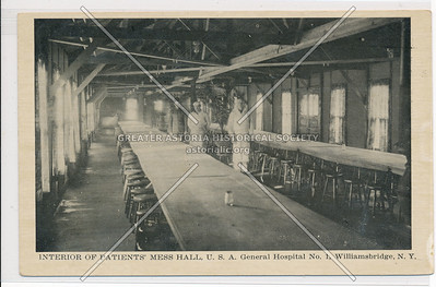 Interior of Patients' Mess Hall, U.S.A General Hospital No. 1, Williamsbridge, Bx.