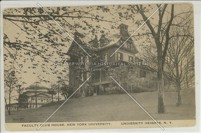 Faculty Club House, New York University, University Heights, Bx.