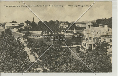 New York University's Campus & Chancellor Residence, University Heights, Bx.
