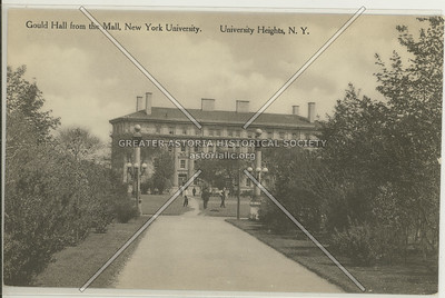 Gould Hall, New York University, University Heights, Bx.