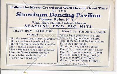 Shoreham Dancing Pavilion, Clason Point, Bx
