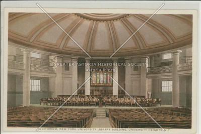 Auditorium, New York University, University Heights, Bx.