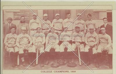 Fordham College Champions, 1908, Bx.