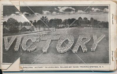 "Spelling 'Victory"", Pelham Bay Park Naval Training Station, Bx"