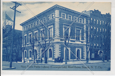 New York Public Library (Carnegie Gift) Mott Haven Branch, Bx