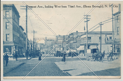 Tremont Ave., looking W from 3rd Ave., Bx