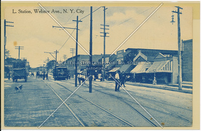 L. Station, Webster Ave., Bx