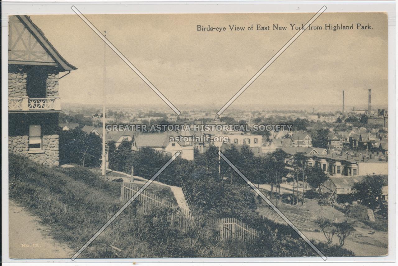 Birds-Eye View of East New York from Highland Park, BK.