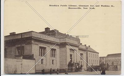 Brooklyn Public Library, Glenmore Ave. & Watkins St., Brownsville, BK.
