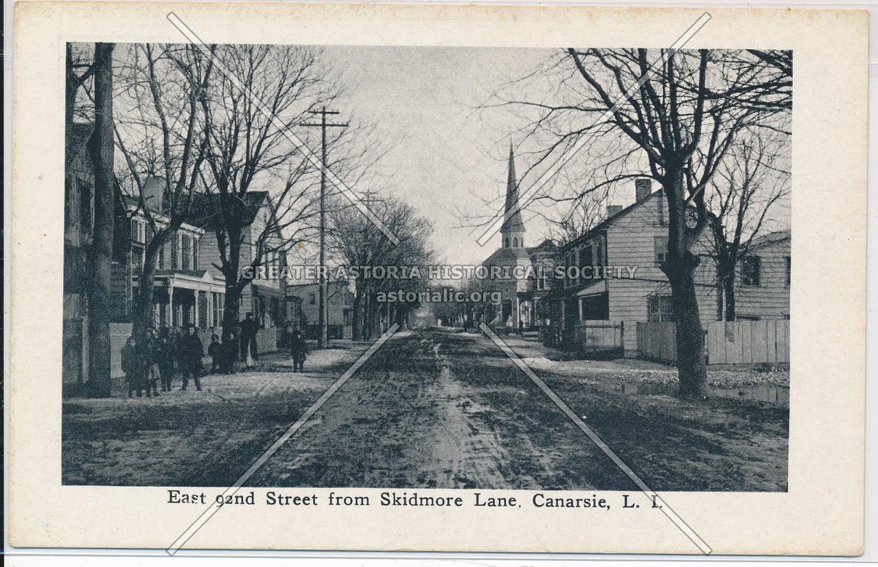 East 92nd Street from Skidmore Lane, Canarsie, BK.
