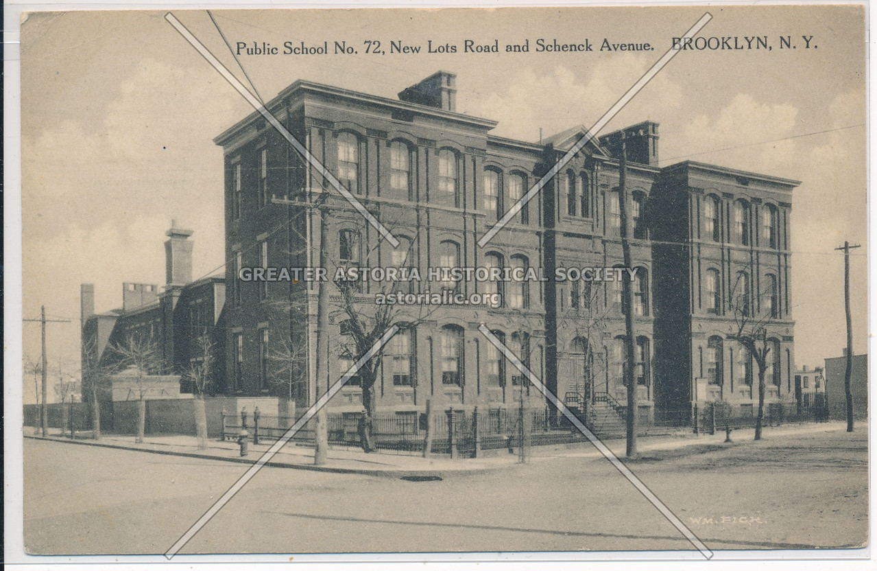 Public School No. 72, New Lots Road & Schenck Avenue., BK.