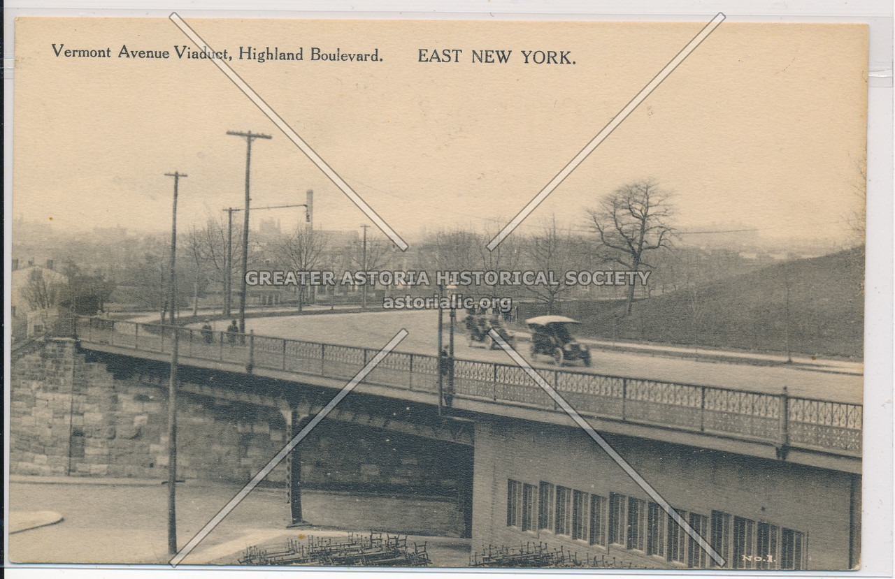 Vermont Ave Viaduct, Highland Boulevard, East New York, BK.