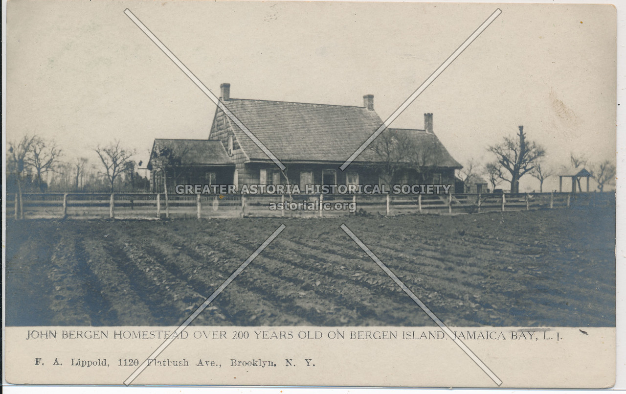 John Bergen Homestead, Bergen Island, Jamaica Bay, L.I.