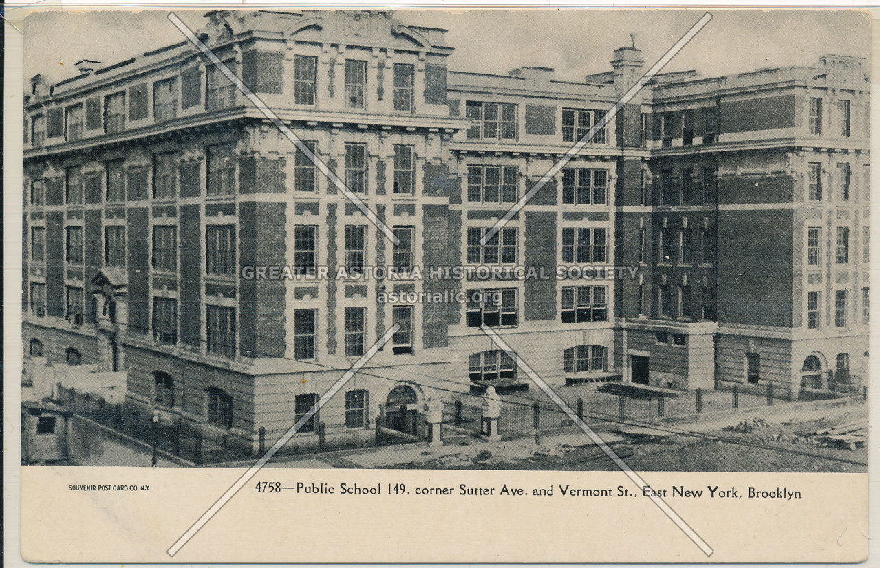 Public School 149, East New York, BK.