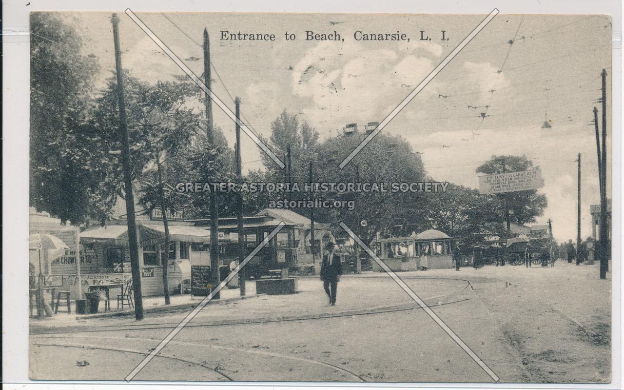 Entrance to Beach, Canarsie, BK.