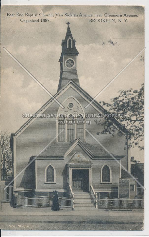 East End Baptist Church, Van Sicklen Ave & Glenmore Ave., BK.