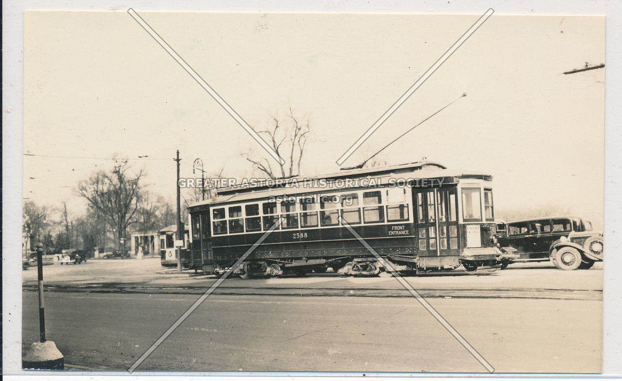 B & Q Transit, #2588, Coney Island Ave & Park Circle, Bklyn. 2/24/35