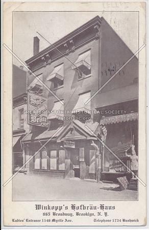 Winkopp's Hofbrau-Haus, 965 Broadway, BK.